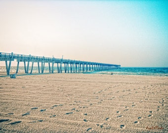Sun and Sand Beach Footprint 11x14 color photograph