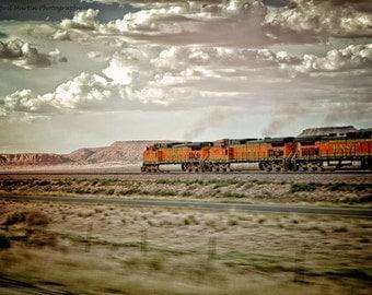 Out West Vintage Color Rail Road Train 11x14 Photograph