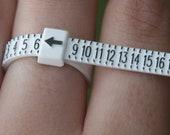 Ring Sizer Gauge Tool, Finger and Toe Sizer, Multisizer Adjustable US Sizes 1 thru 17