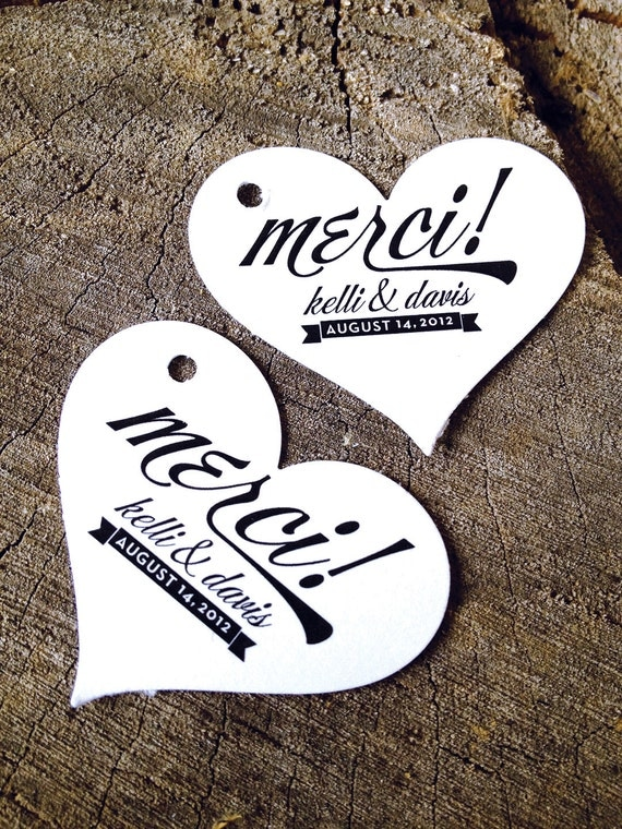 Heart shaped Wedding Favor TagsGift TagsWedding Gift Tags ...