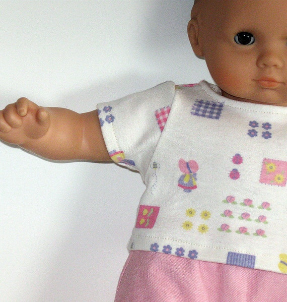 Bitty Baby or Bitty Twins Doll Clothes - Skirt, Jean Shorts, and Tee - 3 piece outfit