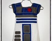 Custom Star Wars R2D2 inspired 12m-3T TODDLER DRESS made to order
