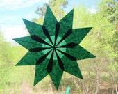 10 Point Emerald Green Waldorf Inspired Window Star