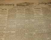 Awesome antique newspaper 1883