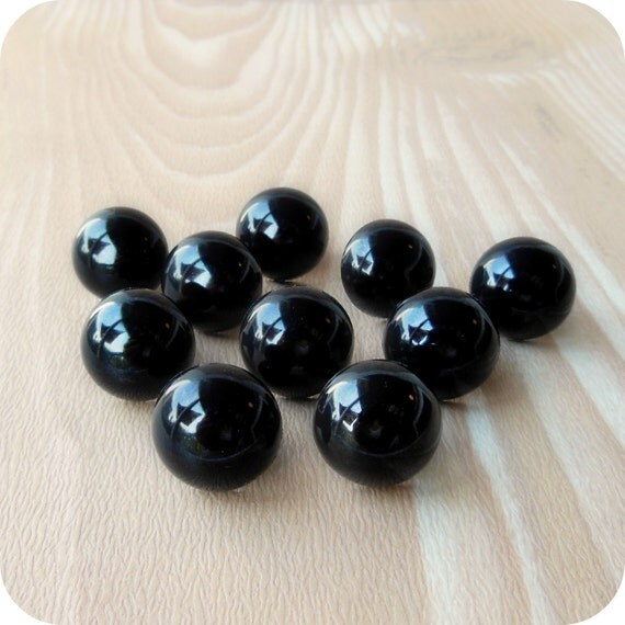 15mm Black Safety Eyes - 9 pairs Craft Eyes - LAST SET