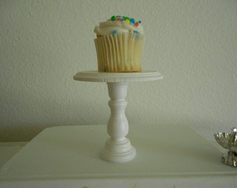 New beveled edge mini wooden  individual cupcake or cake pop stand pedestal choose your color
