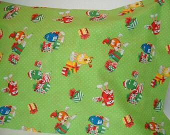 Christmas M & M's Pillowcase