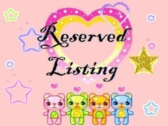 Reserved listing for kleri