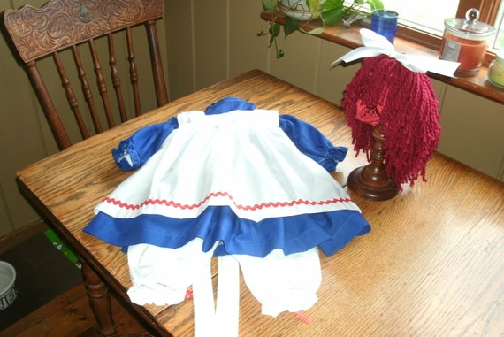 Raggedy Ann  CostumeToddler  without yarn hair wig