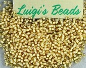 11/0 Round Toho Japanese Glass Seed Beads #948-Jonquil/White Lined 15g - Coupon Code LUIGIS10 for 10% off