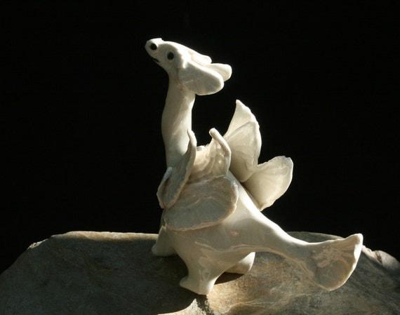 dragon figurine - Zeraphine -  porcelain animal figurine