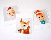 vintage christmas ornament postcards / tags