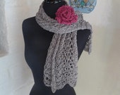 Knitted Lace Scarf SHADOW