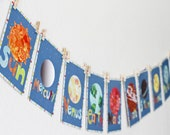 Solar System - Planet Children Wall Cards 5x7, Outer Space, Universe, Nursery Decor, Gender Neutral Art, Kids Room Decor