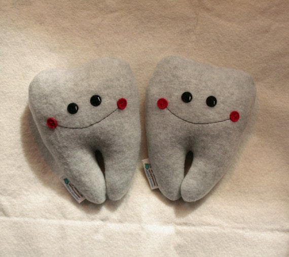 My Wee Fleecy Tooth Fairy Pillow-- Grey