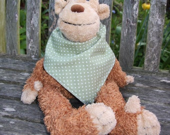 SALE Sage green polka dot bandana bib