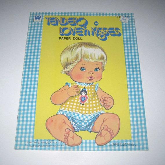 Vintage 1970s Tender Love'n Kisses Paper Dolls Book for Children