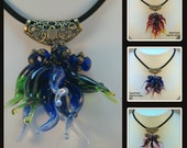 MADE TO ORDER Chihuly Inspired Chandelier squiggle Necklace - your choice of color