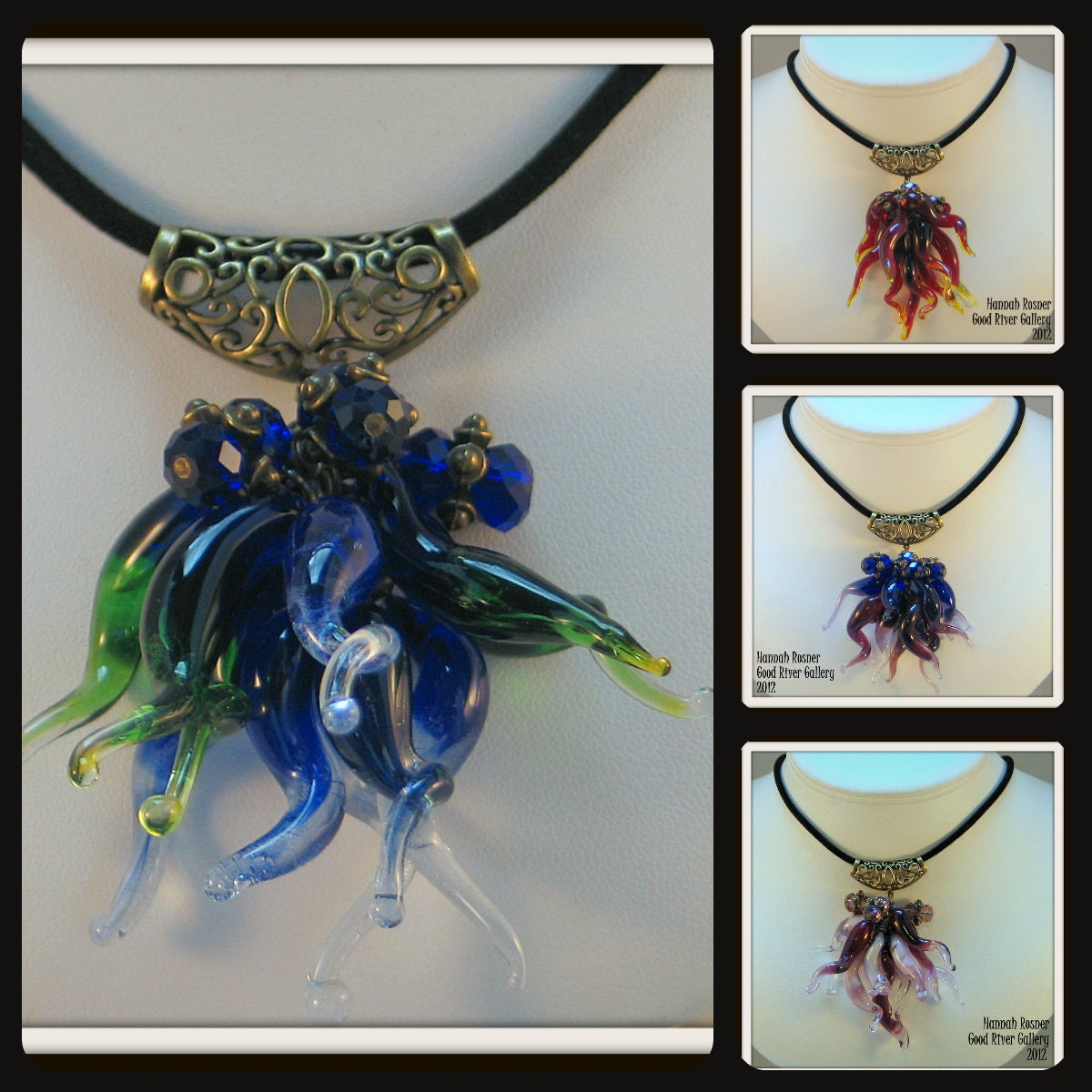 Made To Order Chihuly Inspired Chandelier Squiggle Necklace