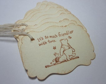 Handmade Gift Tags - Winnie the Pooh - Baby Birthday or Shower