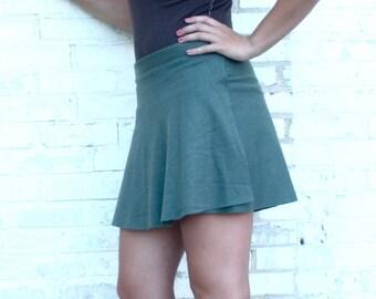 Forget-Me-Not ~ Short Wrap Skirt ~ Hemp & Organic Cotton ~ Made to Order