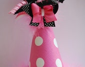 boutique custom BIRTHDAY party headband HAT with bow and choice of number or letter