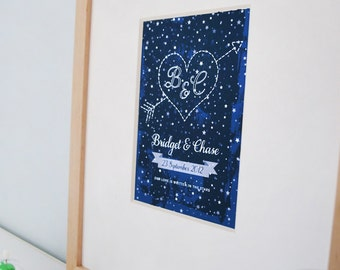 Our Love is Written in the Stars - custom wedding print - 8x10