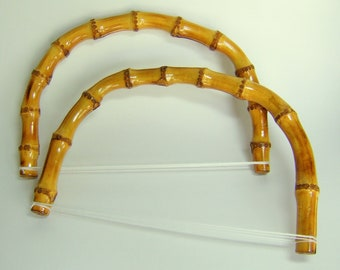 Bamboo Purse Handles - Half Moon