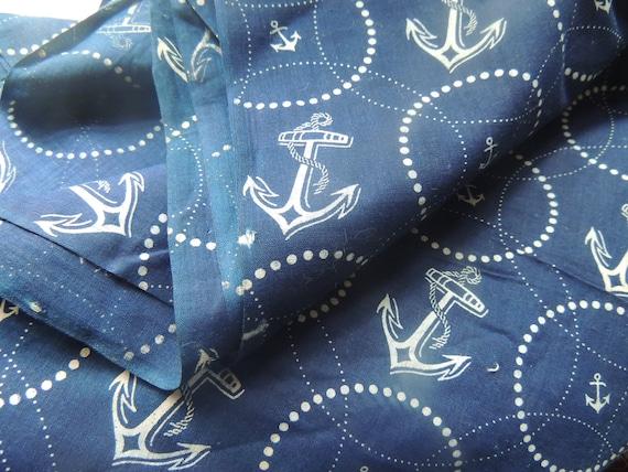 3 Yards Vintage Nautical Pin Up Fabric