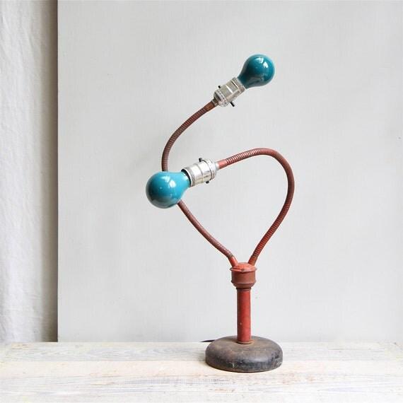 Vintage Industrial Double Gooseneck Lamp