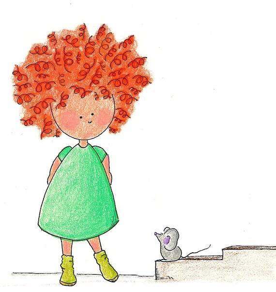 Chiquita has a Friend  -  Children illustration  -  Digital print