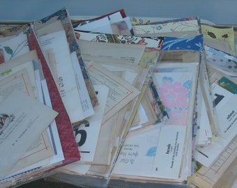 Antique/Vintage Paper Wallpaper Ephemera 50 pc  Great Variety Book pages, Victorian ads, Collage, Scrapbooking, Greeting Cards