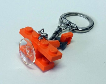 Mini Orange Bi-Plane Key chain