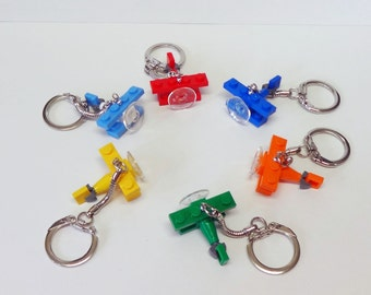 Set of 6 Mini Bi-Plane Key chain