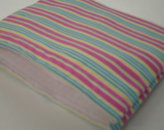 Pastel Stripes Reusable Snack Bag