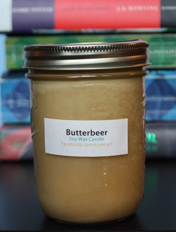 Butterbeer Scented Soy Wax Candle - Harry Potter - 8oz jar