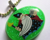 Magic Wizard Resin Necklace