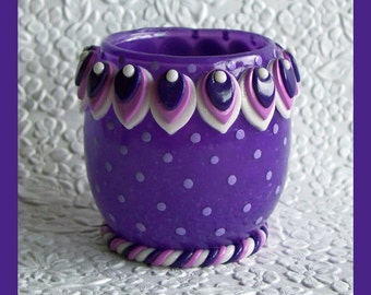 Plum Candle Holder