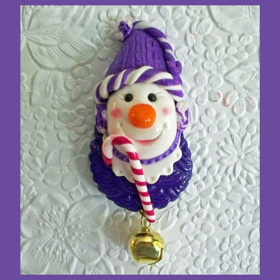 Snowman Magnet Candy Cane
