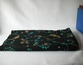 Vintage Fabric Paisley Fabric Black Floral Fabric Hargro Fabric
