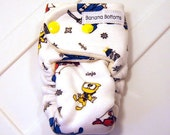 Fitted Cloth Diaper for a Premature Baby made with Bamboo Velour