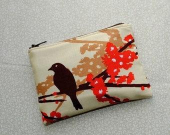 Little Zipper Pouch - Sparrows in Bark