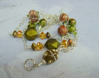 New Earth beaded badge holder necklace lanyard Triple Play 2