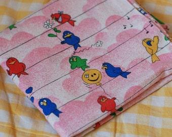 SALE - Seventies vintage childrens pillowcase