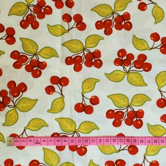 SALE - Sandi Henderson Farmers Market Vintage Cherries fabric (SH-3701) - 1/2 yard