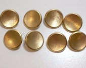 Gold Buttons, Goldtone Metal Sewing Buttons 7/8 inch diameter x 20 pieces