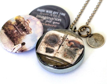 Fairy Wings Necklace, Fairy Wings Jewelry, Fairy Wings Locket, Imagination Quote, Carousel, Magnetic, 3 in 1, Melissa Nucera, Polarity