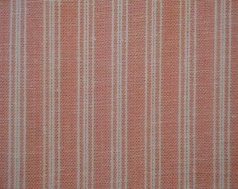 FLAWED Homespun Fabric | Stripe Fabric | Ticking Stripe | Ticking Rose Stripe | 42 x 44