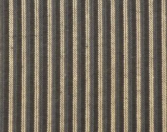Blue Ticking Stripe Fabric Cotton Homespun | Blue Ticking Fabric | Ticking Stripe Fabric |  1 Yard