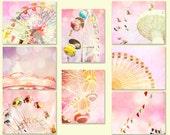 Nursery decor, baby girl decor, pink carnival art, baby girl nursery, little girls room decor, shabby chic, circus art, pink nursery decor